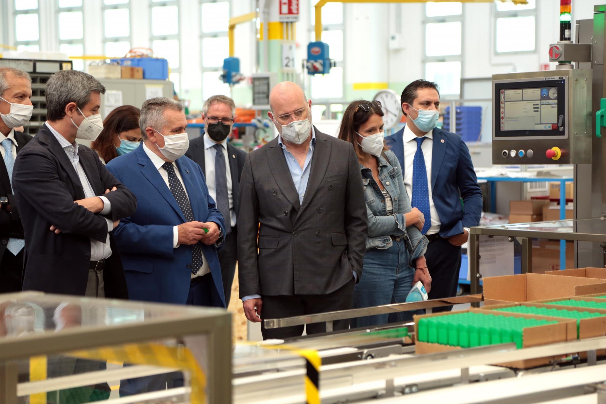 Il ministro del Lavoro Andrea Orlando in visita a Marchesini Group